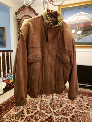 Leather jacket & northface jacket mens for Sale in Oakton, VA