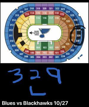 Blues vs Blackhawks Nov 27 Saturday 7pm for Sale in St. Peters, MO