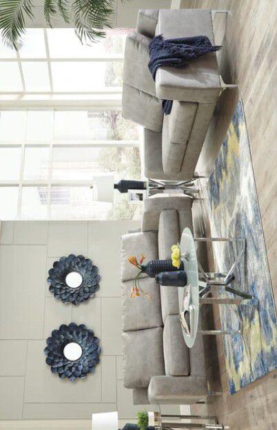 Ryler Steel Living Room Set /# sofa & loveseat .