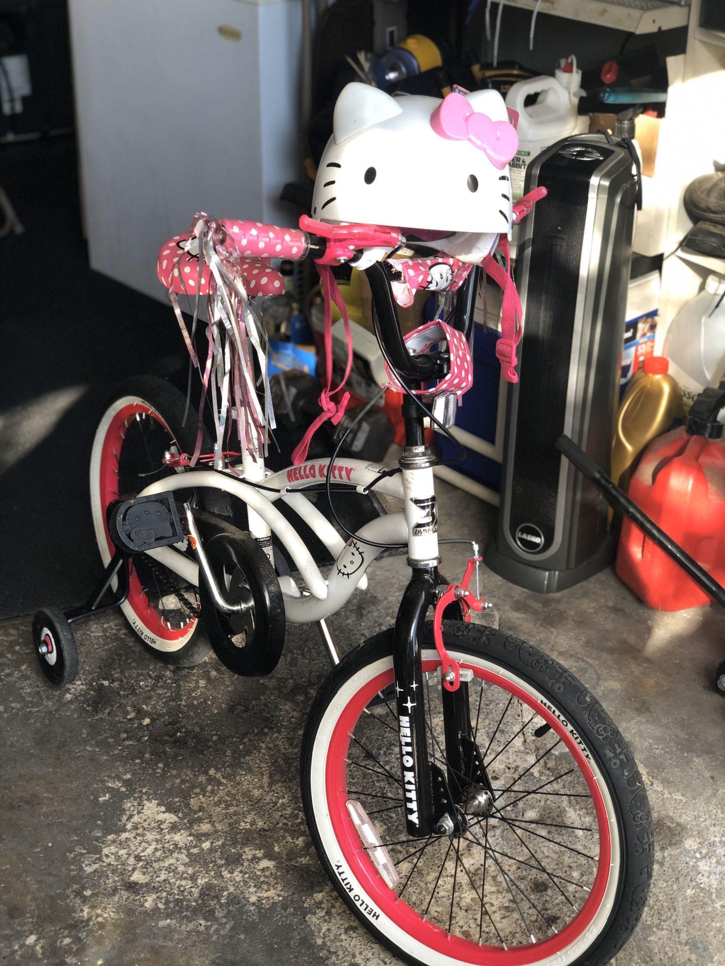 Hello Kitty Bike with Helmet