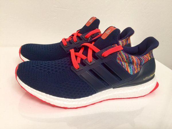 Adidas Mi Adidas Ultra Boost 2.0 Rainbow Multicolor Navy Solar Red Sz 9 8eab9bd66