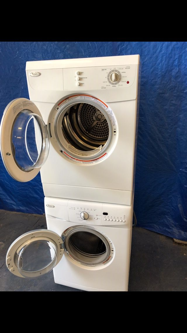 Whirlpool 24 inch stackable front load washer and dryer