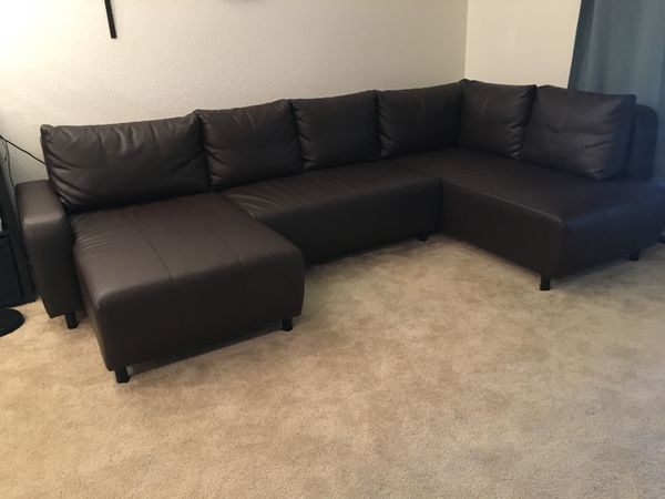 IKEA Dark brown Sectional Sofa for Sale in Gilbert, AZ - OfferUp