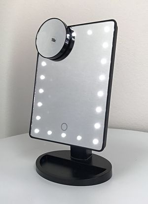 """Photo New $15 each 11x6.5"""" LED Vanity Makeup Mirorr Touch Screen Dimming w/ 10x Magnifying (Black or White)"""