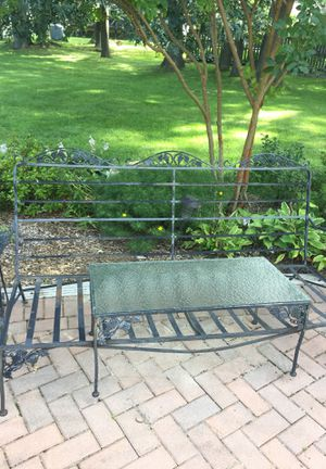 Iron outdoor furniture for Sale in Herndon, VA