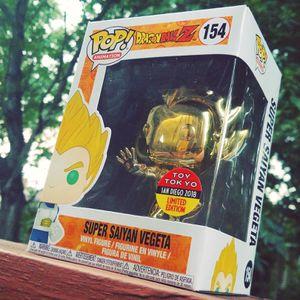 Funko Pop DBZ Super Saiyan Vegeta #154 SDCC EXCLUSIVE STICKER for Sale in Chantilly, VA