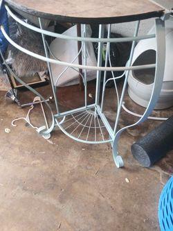 Wrought iron counter corner shelf Thumbnail