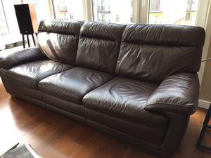 Italian Leather Sofa for Sale in Seattle, WA