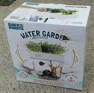 Photo Back to the Roots Water Garden, Self-Cleaning Fish Tank That Grows Food NEW SEALED Nice!