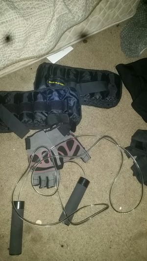 Leg weights, jump rope, wrist braces, and for Sale in Temple Hills, MD