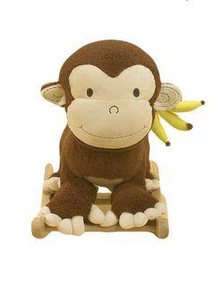 Rockabye Mocha Monkey Rocker Musical (Good condition) Thumbnail