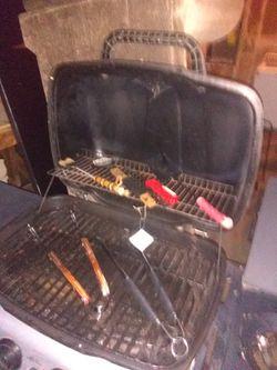 BBQ with propane tank Thumbnail