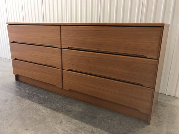 Danish Modern Credenza For Sale : Mid century modern danish teak dresser or credenza for sale in
