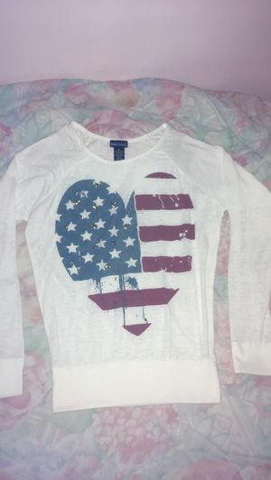Women's Heart shaped American Flag with Gold Star studs ⭐️ size Small by Wet Seal for Sale in Hyattsville, MD