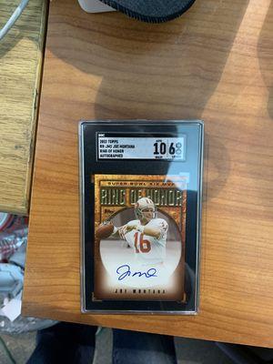 Photo Joe Montana Autographed card graded