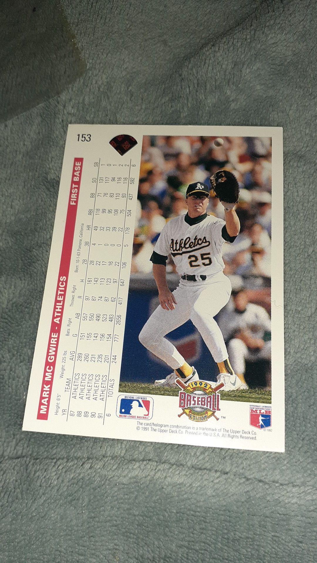 Mark McGwire #153 baseball card