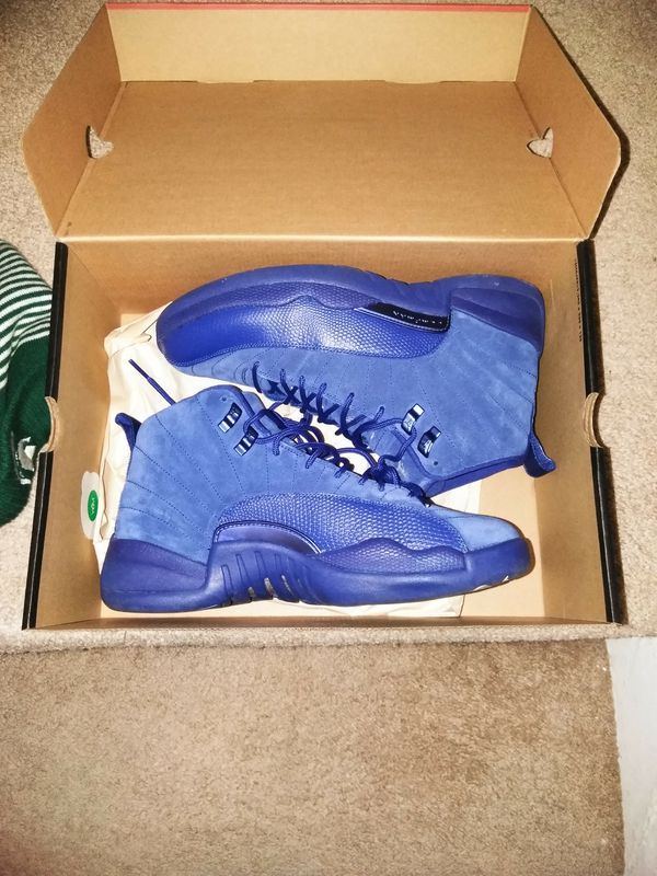 pretty nice 6fae8 7bf37 Jordan retro 12 blue suede(firm price will not respond) for Sale in Taylor,  MI - OfferUp