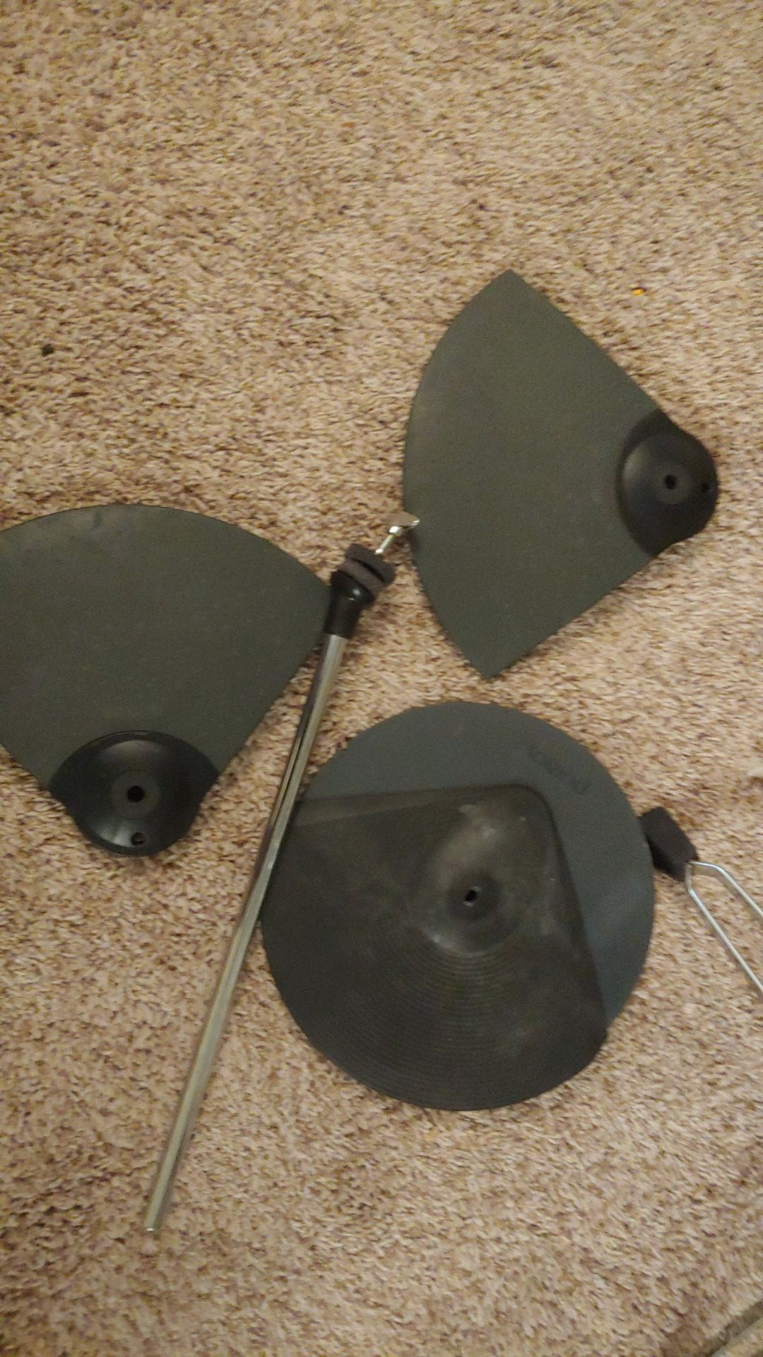 Yamaha electric drum cymbal, and mount. Roland CY-6