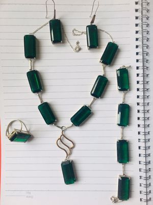 tourmaline rock 4piece, Earrings,bracelet,ring,Necklaces for Sale in Springfield, VA