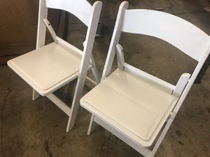 Resin chairs for sale for Sale in Miami, FL