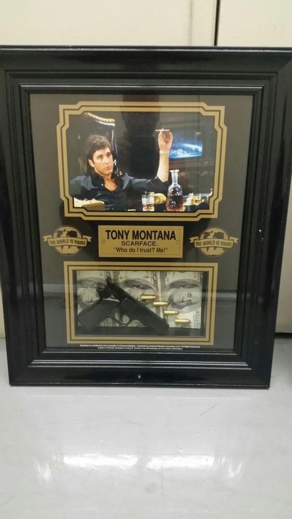 Salim Collection Al Pacino Scarface Tony Montana Framed Shadow Box