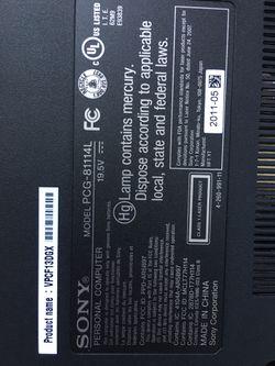 "Sony VIAO Laptop, 16.4"" Screen, i7 Core, 320GB HDD, 4GB RAM, Windows 10 Pro, SN#54034648 3002180 (New, Open Box) Thumbnail"