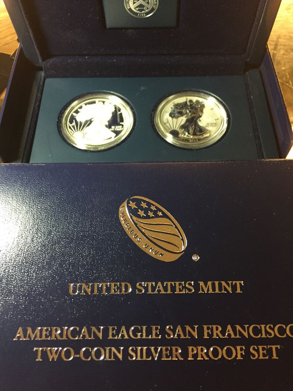 American Eagle Two Coin Silver Proof Set For Sale In