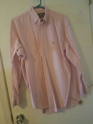 Mens LG Pink Polo dress shirt for Sale in Fairfax, VA