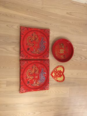 Tea ceremony kneeling pillows and serving tray for Sale in San Francisco, CA