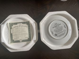 """Bradford Exchange """" An Angel's Caring"""" 8"""" Collector Plate  Thumbnail"""