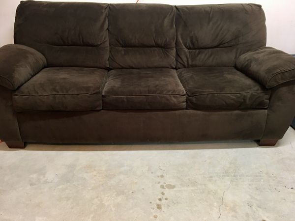 Couch, Dark Brown, Microfiber, Sofa Bed for Sale in Gulf Breeze, FL ...