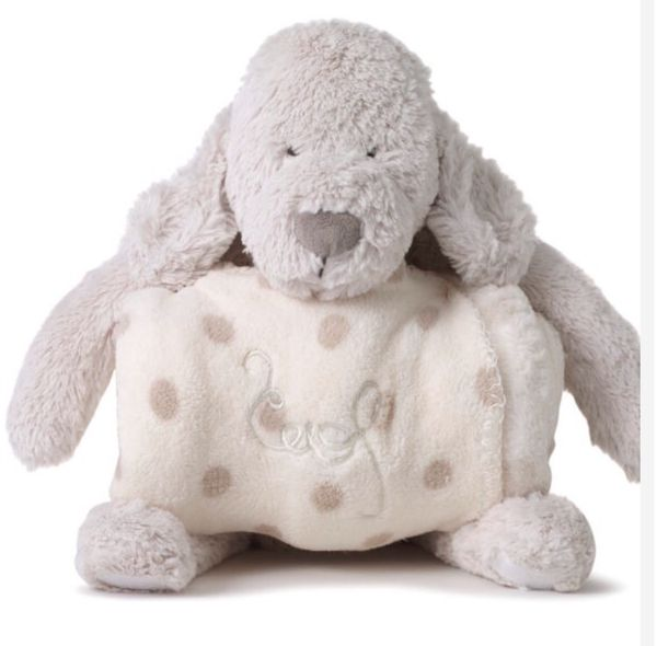 Cute Stuffed Puppy Toy With Blanket Attached Games Toys In