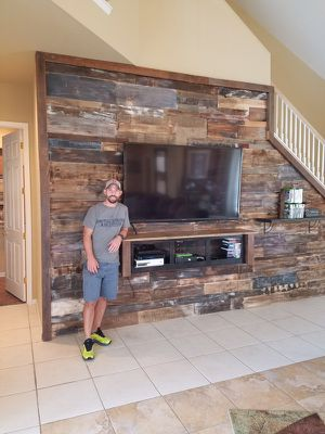 Transform your house with reclaimed wood accent wall *Barn WoOd wall* Authentic and professionally done for Sale in San Francisco, CA