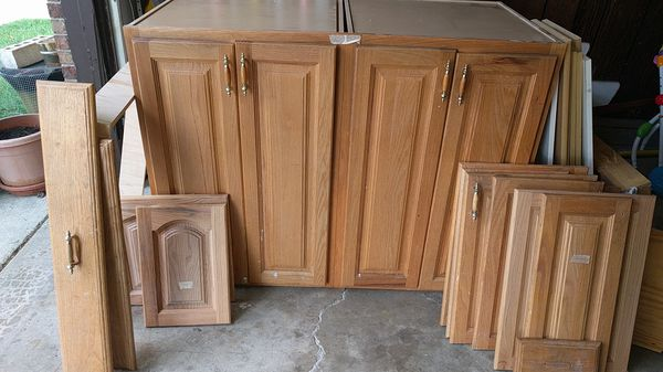 Used Kitchen Cabinets Island Doors Used Oak Wood For Sale In