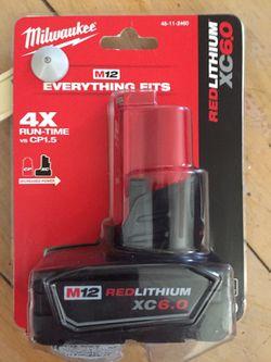 Milwaukee new battery 6.0 12M Thumbnail