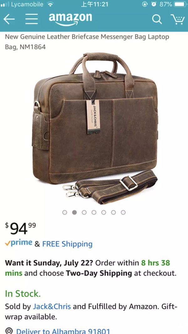 Men s real leather briefcase bag for Sale in Los Angeles a7c45024227d5