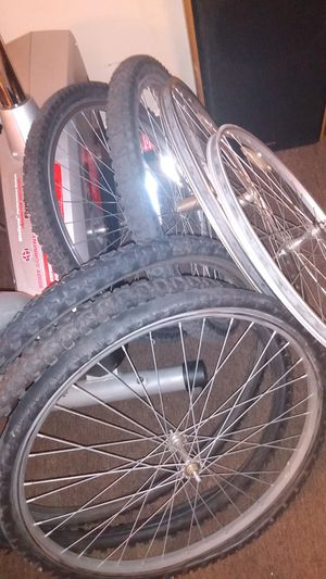 Photo I have 24 inch rims and tires and 26 inch rims four speakers in a workout bike