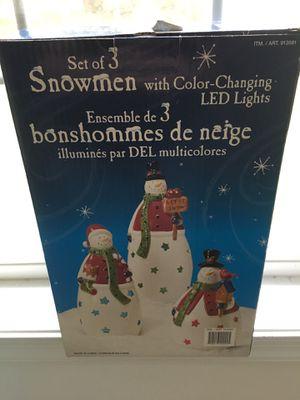 Ceramic light up snowmen for Sale in Frederick, MD