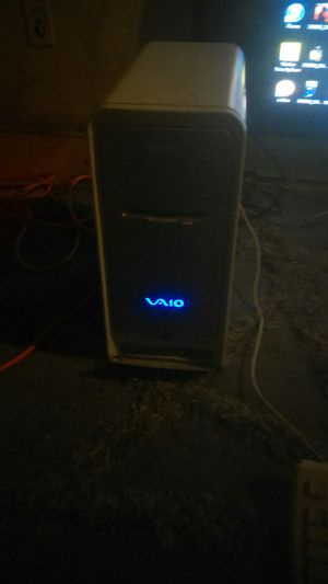 Windows 7 Sony vaio desktop computer tower for Sale in Victorville, CA