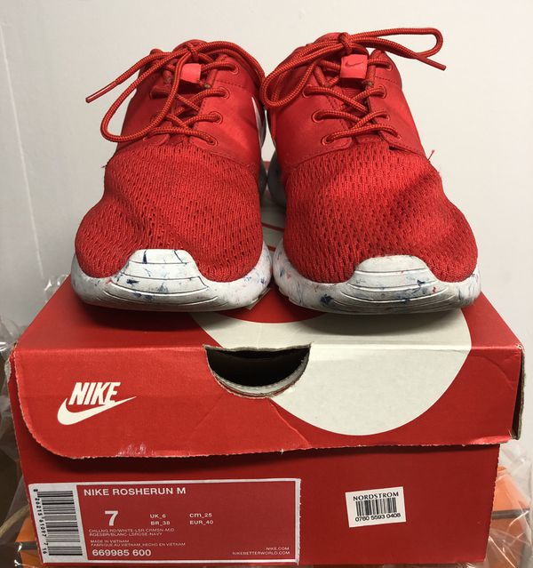 307335f0d64d Nike Men s Roshe Run Marble Challenge Red Running Shoes 669985-600 size 7