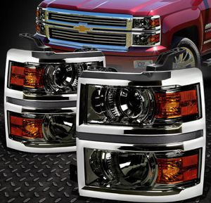 2014~15 Chevy Silverado smoked Projector headlights 🚚🚚 for Sale in Montebello, CA