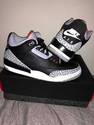 54d58f916b9f46 Air Jordan 3 Black Cement Size 10.5 for Sale in Alexandria