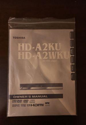 toshiba hd a2 manual