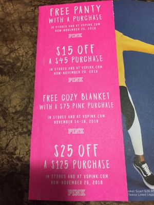 Victoria Secert Coupons for Sale in Pittsburgh, PA
