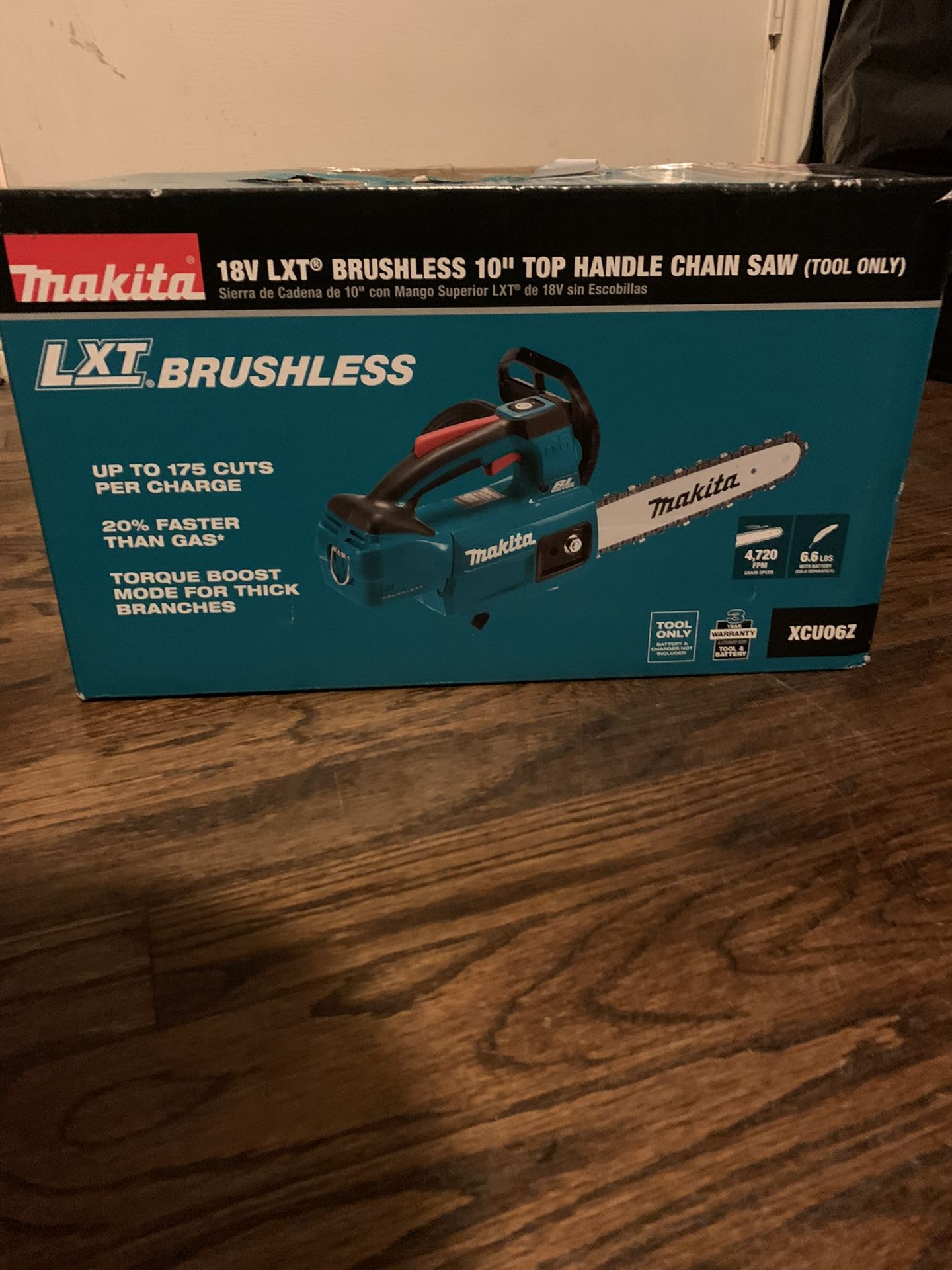 "Makita 18LXT Brushless 10"" Top Handle Chain Saw ""Tool only"""