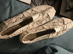 Beige slip on shoes for Sale in Dickinson, TX