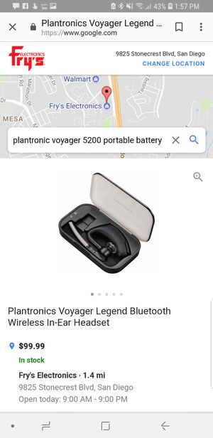 Brand New Plantronics Voyager 5200 with portable battery case for Sale in  San Diego, CA - OfferUp
