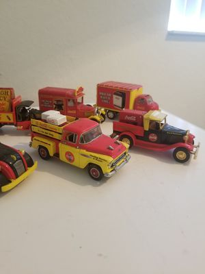 Collection of Coca Cola toy cars with can for Sale in Clermont, FL