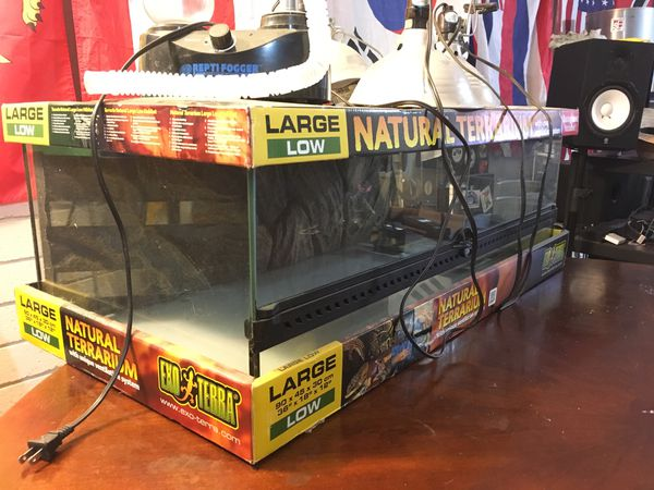 Exo Terra Large Low Terrarium W Repti Fogger For Sale In Lemon