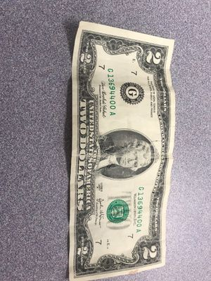 2 REAL DOLLAR BILL! RARE! Not made anymore for Sale in West Springfield, VA